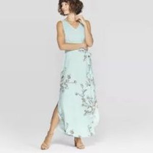A new day baby blue maxi dress belted large